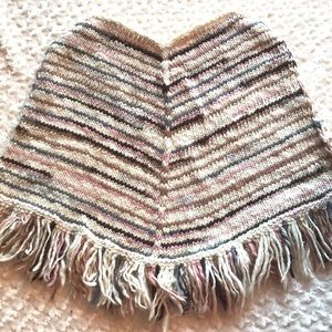 Sweaters - Hand Knit Wool Poncho